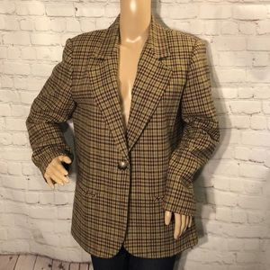 Sag Harbor Vintage Tweed Single Breasted Blazer 10